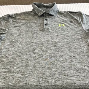 Under Armour Heat-Gear Loose Fit Large Polo Green